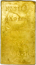 S.S. Central America Gold Bars, Henry Hentsch Gold Ingot. 83.54 Ounces....
