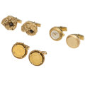 Estate Jewelry:Watches, Black Star Sapphire, Gold Coin, Gold Cuff Links. ... (Total: 3Items)