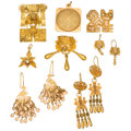 Estate Jewelry:Lots, Cultured Pearl, Gold Jewelry. ... (Total: 8 Items)