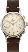 Timepieces:Wristwatch, Rolex Ref 2508 Two Register 'Chronographe Anti-Magnetiqe' in Steel with Valjoux 22, Circa 1945. ...