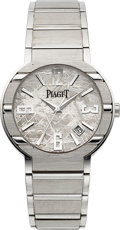 Timepieces:Wristwatch, Piaget, 18k Polo with Meteorite Dial, 38mm, Ref: GOA28051, Circa2006. ...