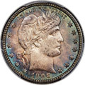Barber Quarters, 1908-S 25C MS65 PCGS Secure....