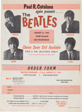 Music Memorabilia:Posters, Beatles Cow Palace Concert Handbill (Paul R. Catalana Presents,1965). Very Rare....
