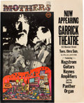 Music Memorabilia:Posters, Frank Zappa & The Mothers Of Invention Garrick Theatre Concert Poster (1967)....