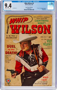 Whip Wilson #9 Mile High Pedigree (Marvel, 1950) CGC NM 9.4 Off-white to white pages