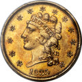 Classic Quarter Eagles, 1835 $2 1/2 MS63 PCGS Secure. CAC. Breen-6141, Variety 6, R.2....
