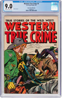 Western True Crime #4 Mile High Pedigree (Fox Features Syndicate, 1949) CGC VF/NM 9.0 Off-white to white pages