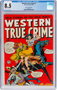 Western True Crime #5 Mile High Pedigree (Fox Features Syndicate, 1949) CGC VF+ 8.5 Off-white to white pages