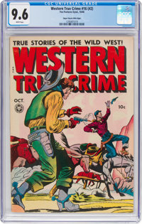 Western True Crime #16 (#2) Mile High Pedigree (Fox Features Syndicate, 1948) CGC NM+ 9.6 White pages