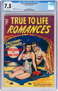 True-To-Life Romances #6 (Star Publications, 1951) CGC VF- 7.5 Off-white pages