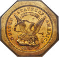 Territorial Gold , 1851 $50 LE Humbert Fifty Dollar, Lettered Edge, 887 Thous., 50Reverse, MS63 ★ NGC. K-4, R.5....