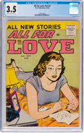 Silver Age (1956-1969):Romance, All For Love V2#3 (Prize, 1958) CGC VG- 3.5 Cream to off-white pages....