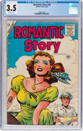 Golden Age (1938-1955):Romance, Romantic Story #28 (Charlton, 1955) CGC VG- 3.5 Off-white pages....