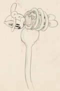 Animation Art:Production Drawing, Mickey's Fire Brigade Mickey Mouse Animation Drawing (WaltDisney, 1935). ...