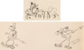 Animation Art:Production Drawing, Trader Mickey Pluto and Natives Animation Drawings Group of2 (Walt Disney, 1932). ... (Total: 2 Original Art)