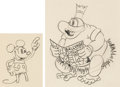 Animation Art:Production Drawing, Trader Mickey Mickey Mouse and Native Chief AnimationDrawings Group of 2 (Walt Disney, 1932). ... (Total: 2 OriginalArt)
