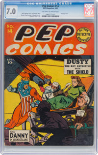 Pep Comics #14 (MLJ, 1941) CGC FN/VF 7.0 Off-white to white pages
