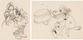 Animation Art:Production Drawing, Camping Out Minnie Mouse and Horace Horsecollar AnimationDrawings Group of 2 (Walt Disney, 1933). ... (Total: 2 OriginalArt)