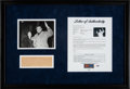 Baseball Collectibles:Photos, 1942 Babe Ruth Leaves to Film Pride of the Yankees Original News Service Photograph Display, PSA/DNA Type 1. ...