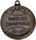 Baseball Collectibles:Others, 1923 Christy Mathewson New York Giants Silver Season Pass....
