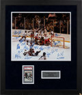 Autographs:Photos, Circa 2000 Miracle On Ice Signed Photograph Display....