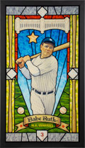 """Baseball Collectibles:Others, 2018 Babe Ruth """"Stained Glass"""" Print from """"Saints of the Game"""" Series by Arthur Miller...."""