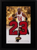Autographs:Others, 1998 Michael Jordan Signed NBA Finals Display by Upper Deck Authenticated....