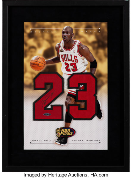 outlet store f9ad0 feef2 1998 Michael Jordan Signed NBA Finals Display by Upper Deck ...