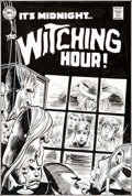 Original Comic Art:Covers, Nick Cardy and Luis Dominguez Witching Hour #60 CoverOriginal Art Group of 2 (DC, 1970/1975).... (Total: 2 Original Art)