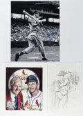 Autographs:Photos, Stan Musial Signed Image Lot of 6.... (Total: 6 items)