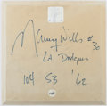 Autographs:Others, Maury Wills Signed & Inscribed Replica Base....