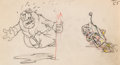 Animation Art:Production Drawing, Mickey's Service Station Peg Leg Pete Animation Drawing(Walt Disney, 1935)....