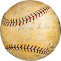Baseball Collectibles:Balls, 1930 New York Giants Team Signed Baseball....