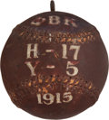 Baseball Collectibles:Balls, 1915 Harvard vs. Yale Phi Beta Kappa Game Used Trophy Baseball....