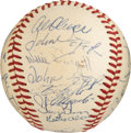 Baseball Collectibles:Balls, 1970 Pittsburgh Pirates Team Signed Baseball from The Gene KirbyCollection. ...
