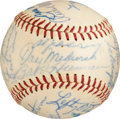 Baseball Collectibles:Balls, 1952-57 Hall of Famers & Stars Multi-Signed Baseball from TheGene Kirby Collection. ...