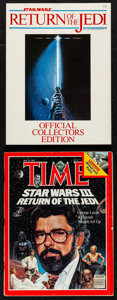 "Movie Posters:Science Fiction, Return of the Jedi & Other Lot (Paradise Press, 1983). Program(64 Pages, 8"" X 11"") & Magazine (90 Pages, 8.5"" X 11"").Scien... (Total: 2 Items)"