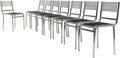 Furniture , Rene Herbst (French, 1891-1982). Eight Sandows Chairs, designed 1928, produced circa 1975, Movimento Moderno. Nickel-pla... (Total: 8 Items)