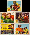 "Movie Posters:Adventure, King Solomon's Mines (MGM, 1950). Title Lobby Card & LobbyCards (4) (11"" X 14""). Adventure.. ... (Total: 5 Items)"