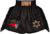"1993 James ""Lights Out"" Toney Fight Worn Trunks from Iran Barkley Bout from The James Toney Collection"