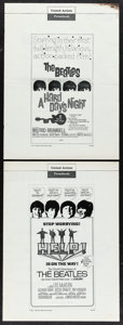 "Movie Posters:Rock and Roll, A Hard Day's Night & Other Lot (United Artists, 1964). UncutPressbooks (2) (Multiple Pages, 13.25"" x 18""). Rock and Roll.. ...(Total: 2 Items)"