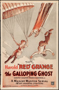 "Movie Posters:Serial, The Galloping Ghost (Mascot, 1931). One Sheet (27"" X 41""). Serial.. ..."