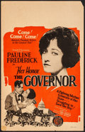"Movie Posters:Drama, Her Honor, the Governor (FBO, 1926). Window Card (14"" X 22"").Drama.. ..."