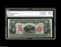 Large Size:Legal Tender Notes, Fr. 122 $10 1901 Legal Tender CGC Almost Uncirculated 55. Naturalpaper wave, rich inks, and a couple of light folds are vie...