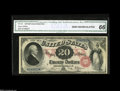 Large Size:Legal Tender Notes, Fr. 129 $20 1878 Legal Tender CGA Gem Uncirculated 66. A verypretty example of a type that does come rather nice. Unlike mo...