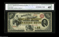 Large Size:Compound Interest Treasury Notes, Fr. 191a $20 1864 Compound Interest Treasury Note CGA ExtremelyFine 40. Authorized under the act of June 30, 1864 and issue...