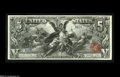 Large Size:Silver Certificates, Fr. 268 $5 1896 Silver Certificate Superb Gem New. Huge margins,deep original embossing, perfect color and ideal centering ...