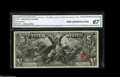 Large Size:Silver Certificates, Fr. 268 $5 1896 Silver Certificate CGA Gem Uncirculated 67. Thishugely margined Educational Five is one of the few examples...