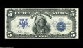 Large Size:Silver Certificates, Fr. 275 $5 1899 Silver Certificate Choice New, Repaired. But for the rather nicely done repair of an internal cut, this is a...