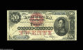 """Large Size:Silver Certificates, Fr. 307 $20 1878 Silver Certificate Fine. Fr. 307 is one of the more """"common"""" Triple Signature notes, with about fifteen exa..."""